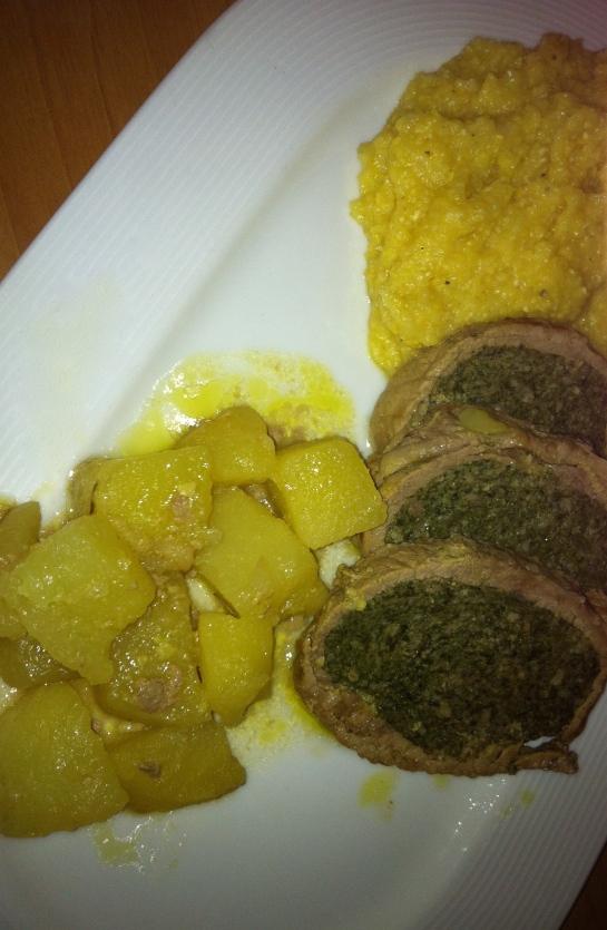 Falso Magro con Patate e Polenta